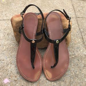 Women's Black/ Brown Ralph Lauren Thong Sandals